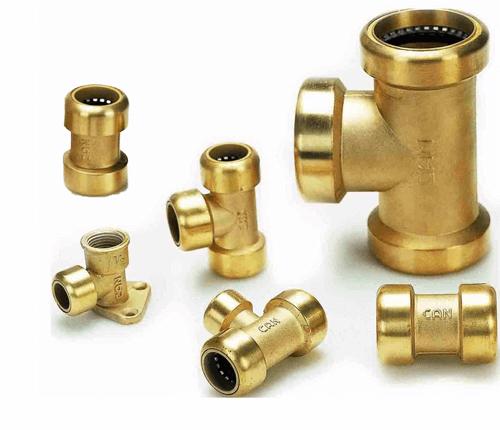Conexiones de tubos de cobre y accesorios de tubería